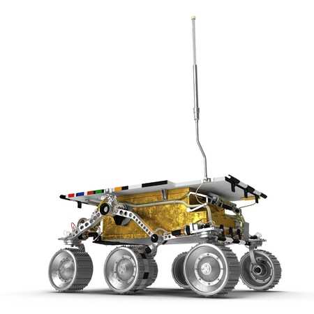 Mars Rover Sojourner 3D Illustration on White Background Isolated