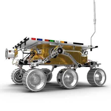 Mars Rover Sojourner 3d ilustracja na białym tle na białym tle