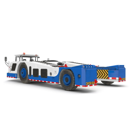 Aircraft Towing Tractor 3D Illustration on White Background 写真素材