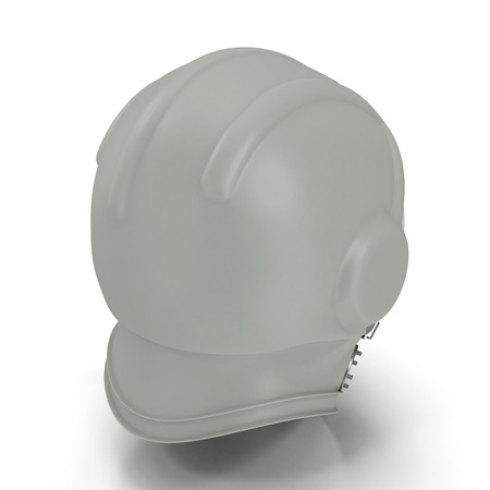 Yurii Gagarins Space Helmet on White Background 3D Illustration, Isolated