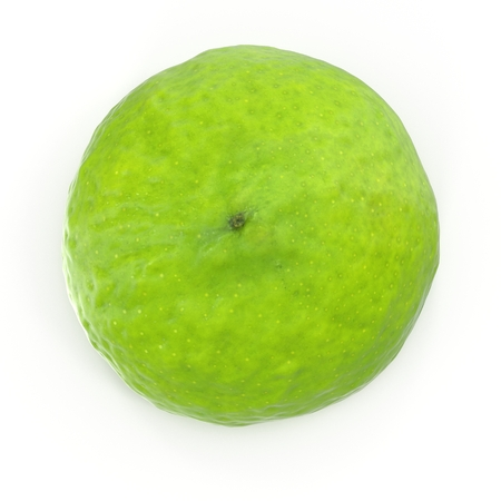 Half Lime Isolated on White Background. 3D Illustration