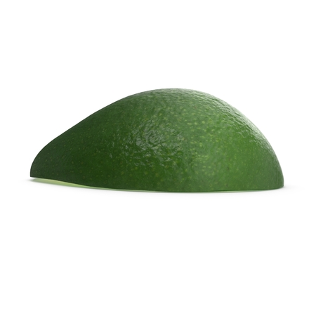 Avocado Half on White Background 3D Illustration Isolated Stock Photo