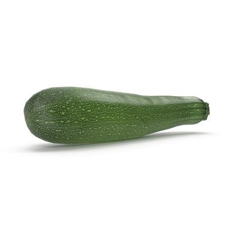 Zucchini Isolated on White Background 3D Illustration