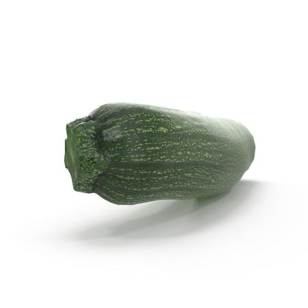 Zucchini on White Background 3D Illustration Isolated Zdjęcie Seryjne