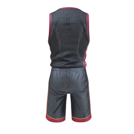 Basketball Player Uniform on White Background 3D Illustration Isolated Stock Photo