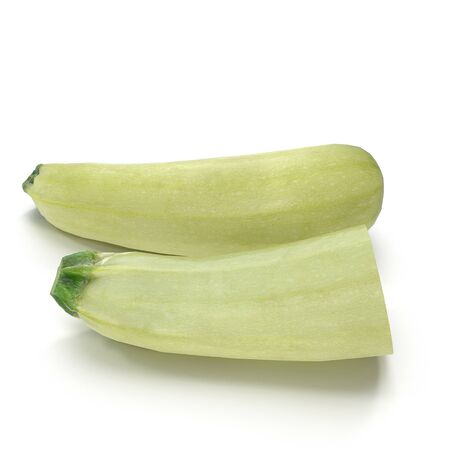 Zucchini Collection on White Background 3D Illustration Isolated