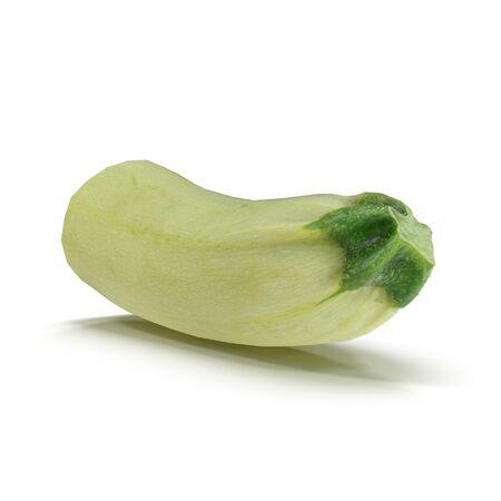 Zucchini Half on White Background 3D Illustration Isolated Zdjęcie Seryjne - 128055286