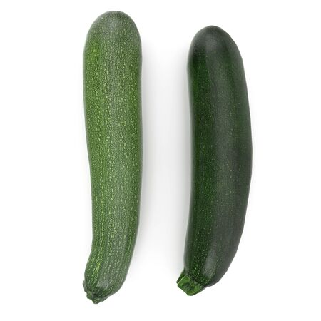 Zucchini Vegetable Collection Isolated on White Background 3D Illustration Zdjęcie Seryjne