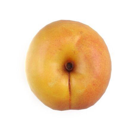 Apricots Isolated on White Background 3D Illusration Zdjęcie Seryjne - 128055310