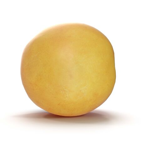 Apricots Isolated on White Background 3D Illusration Zdjęcie Seryjne - 128055314