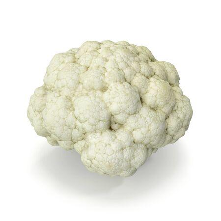 Cauliflower Isolated on White Background 3D Illustration Imagens - 128055319