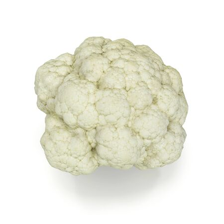 Cauliflower Isolated on White Background 3D Illustration