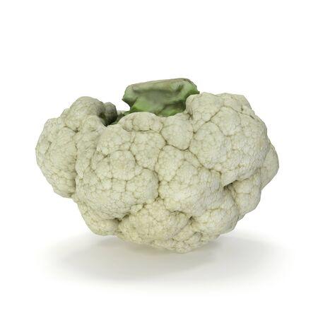 Cauliflower Isolated on White Background 3D Illustration Zdjęcie Seryjne - 128055325