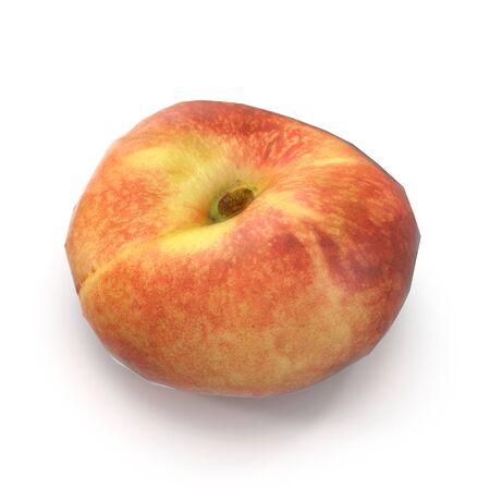 Doughnut Peach on White Background 3D Illustration Isolated