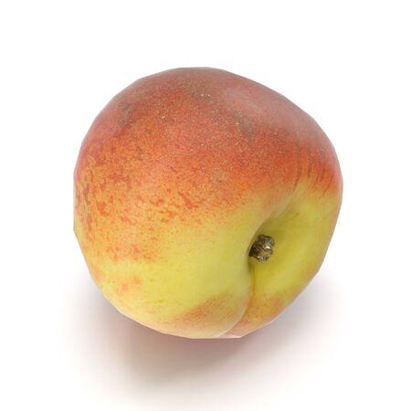Peach on White Background 3D Illustration Isolated Zdjęcie Seryjne