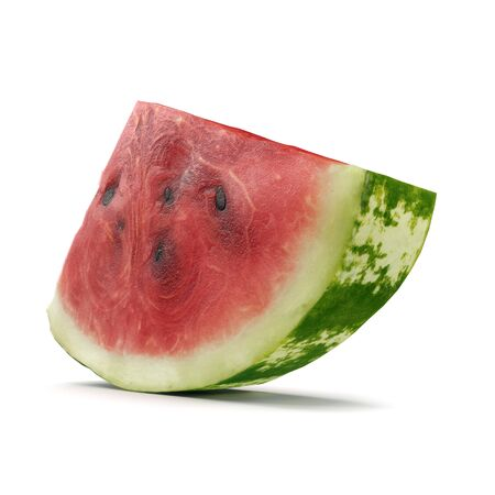 Watermelon Slice on White Background 3D Illusration Isolated Imagens - 128054643