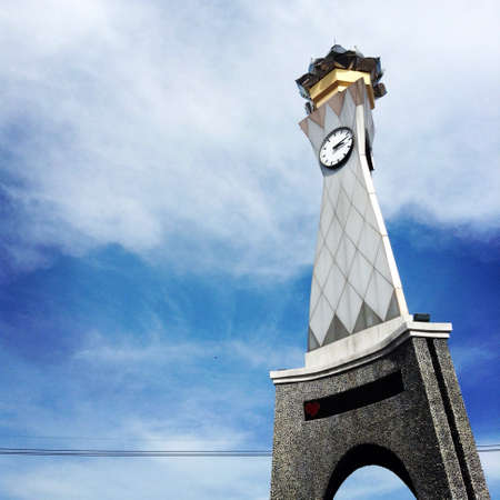 ratchaburi: Clock tower in Ratchaburi,Thailand