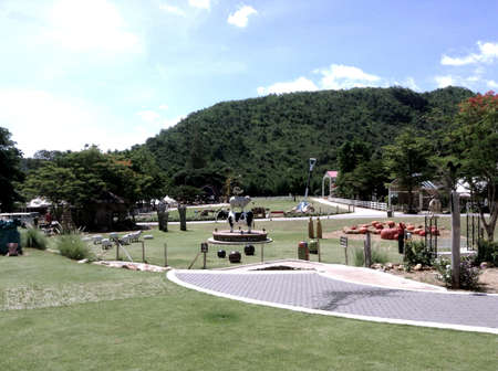 ratchaburi: The scenery vintage farm is a tourist attraction in suanphueng,Ratchaburi Thailand