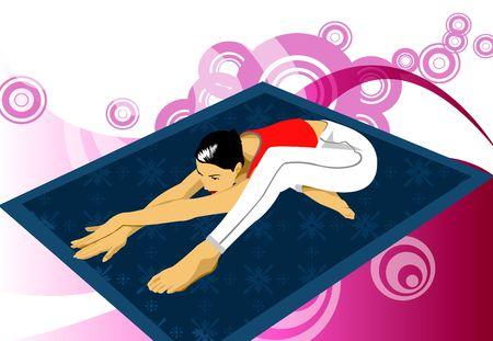 woman doing yoga exercise photo