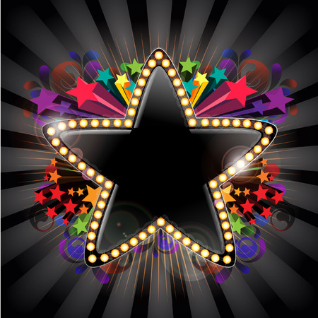 convey:  star message Stock Photo