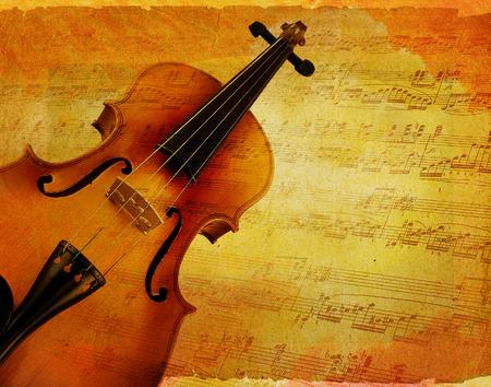 partition musique: violon fond Banque d'images