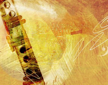 flute:  Flute music background Stock Photo