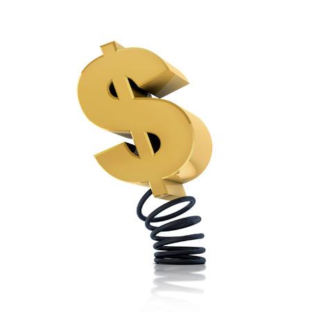spirale: Geld Schraubenfeder