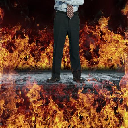 fire surround: Surround by fire