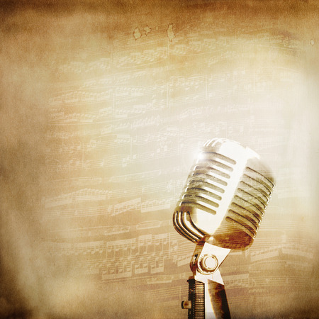 Classical old microphone background Stok Fotoğraf