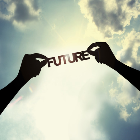 future background: Holding future in sky