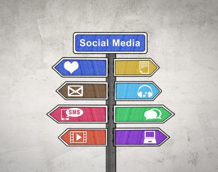convey: Social media sign board