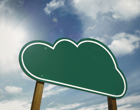 Cloud sign board photo