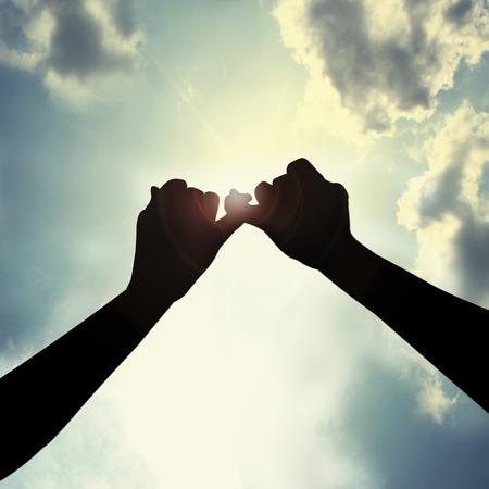 Hacer promesa en el cielo