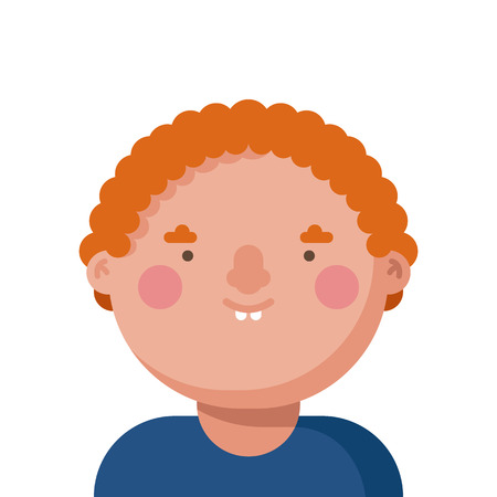 eight year old: Vector flat illustration of young happy boy. Illustration