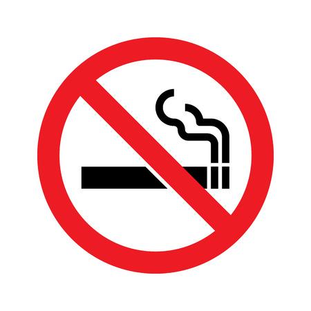 Aucun signe de fumer. Vecteur simple, icône Banque d'images - 58464224
