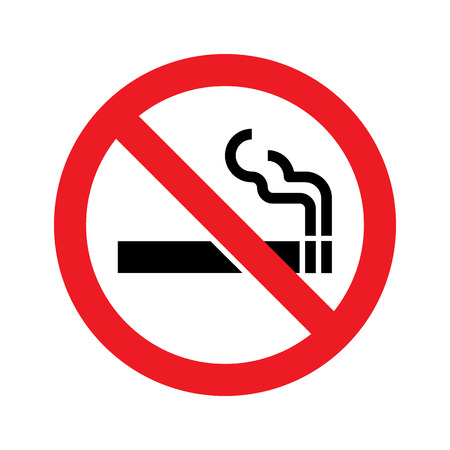 No smoking sign. Vector simple icon
