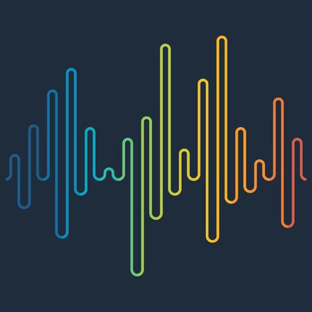 Colorato onda suono di sottofondo. Equalizer, swing e musica. illustrazione di vettore Vettoriali