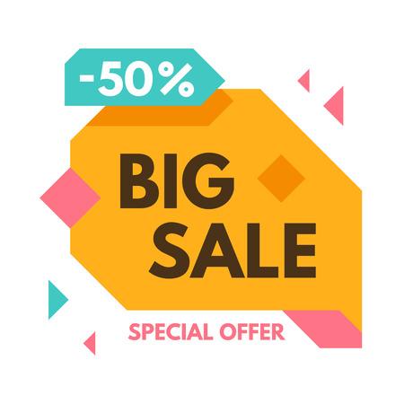50  off: Big 50% off sale banner. Vector illustration.