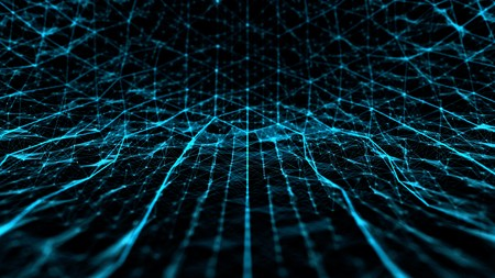 Abstract technology and science noise with lines grid