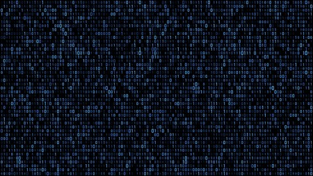 Abstract binary matrix code blue Stockfoto