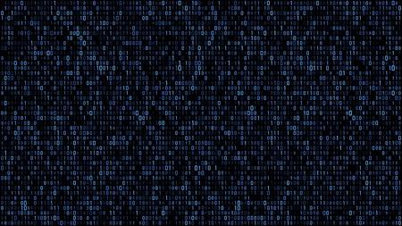 Código de matriz binaria abstracto azul