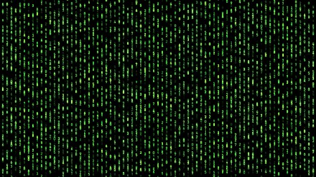 Resumen matriz de números que cae código verde
