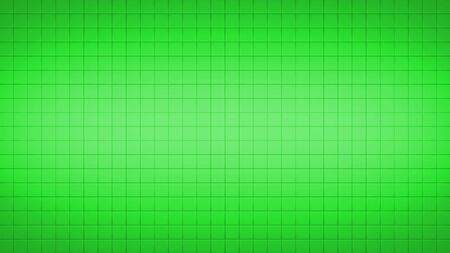 3d render simple straight illustration of squares. Geometric abstract background of green color. Tile wallpaper 版權商用圖片