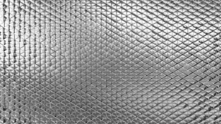 Metallic background silver. Wallpaper precious materials. The surface of the triangles. Illustration 3d visualization