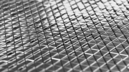 Metallic background silver isometry. Wallpaper precious materials. The surface of the triangles. Illustration 3d visualization