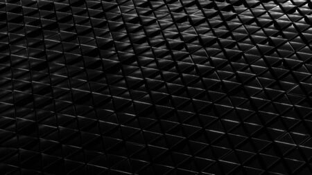 Metallic dark background isometry. Wallpaper precious materials. The surface of the triangles. Illustration 3d visualization