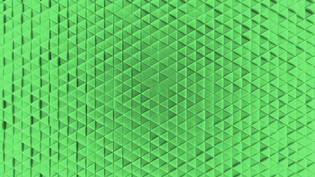 Background made of green plastic triangles. background. Illustration 3d visualization 版權商用圖片