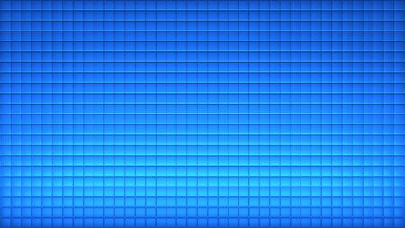 Geometric abstract wallpaper of blue color. 3d render background of squares Stockfoto