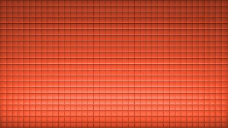Geometric abstract wallpaper of orange color. 3d render background of squares 版權商用圖片