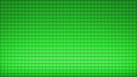 Geometric abstract wallpaper of green color. 3d render background of squares 版權商用圖片